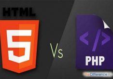 Разница между PHP и HTML