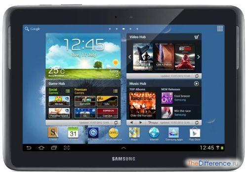 отличие Samsung Galaxy Note GT-N8000 от GT-N8010