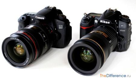 отличие фотоаппаратов Nikon от Canon