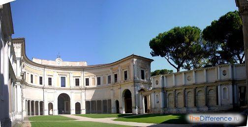 Барокко в архитектуре: Виньола, первый двор виллы Джулия в Риме