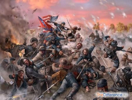 отличие битвы от сражения