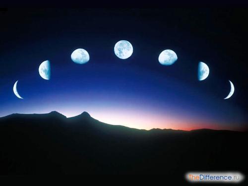 отличие луны от месяца