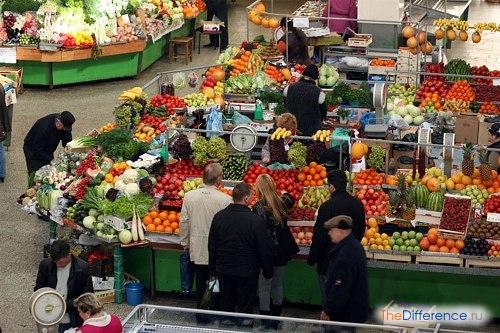 отличие рынка от базара