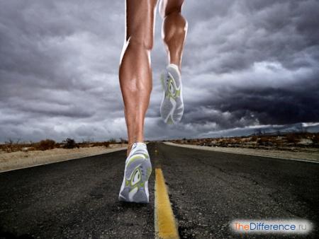 отличие бега от спортивной ходьбы