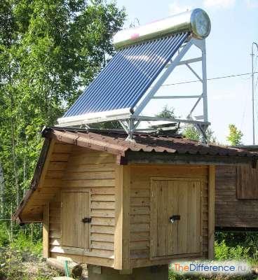 Солнечный водонагреватель для дачи