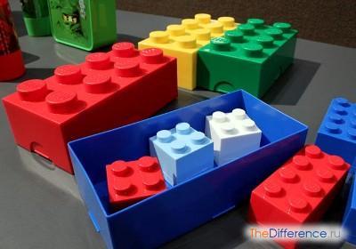Восьмиточечные контейнеры для конструкторов Lego
