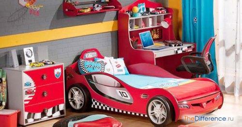 Оформление комнаты в автомобильном стиле