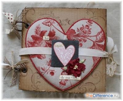 Скрапбукинг валентинка