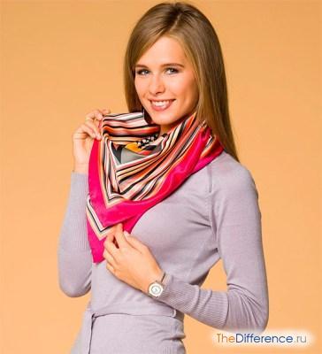 Как завязать платок на шее