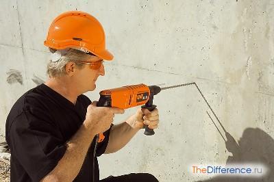 Как сверлить бетон правильно и без пыли