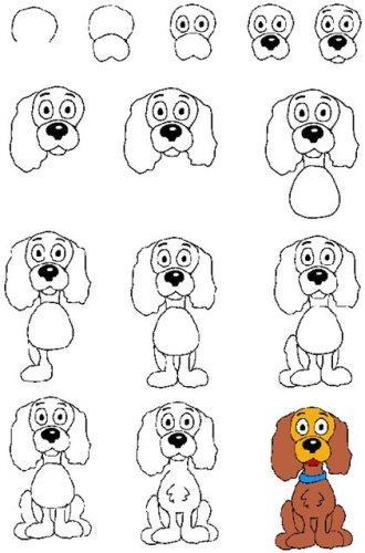 Маленький рисунок собака