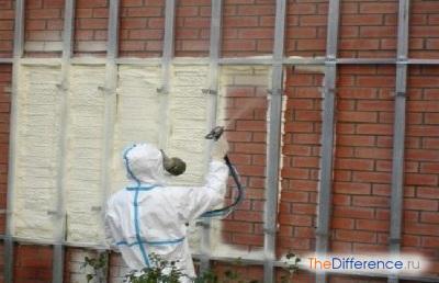 Утепление стен снаружи с помощью пенополиуретана