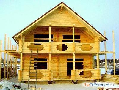 построить двухэтажный дом из бруса