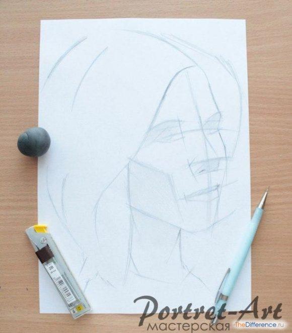 как нарисовать портрет человека с фотографии