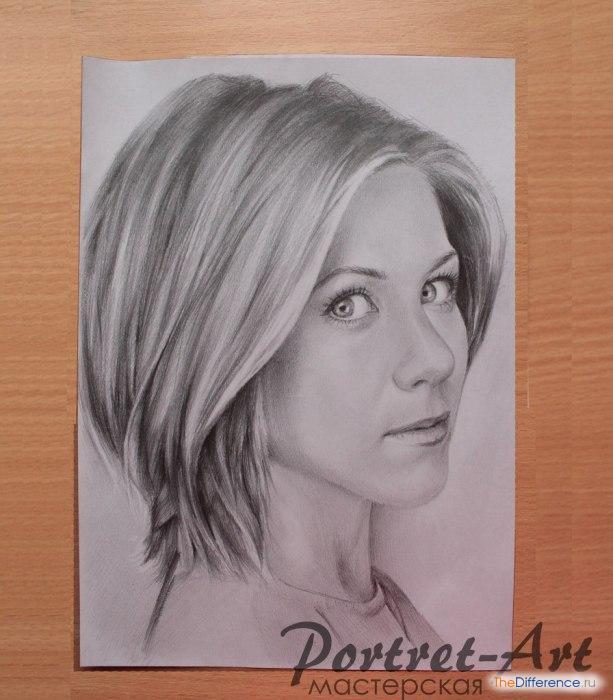 Фото как рисовать портрет человека карандашом