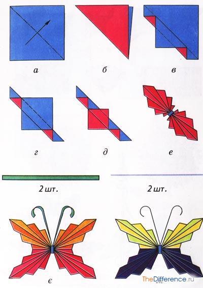 как сделать объемную бабочку