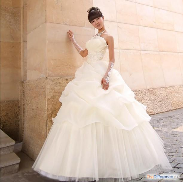 Свадебные платья с перчаткой
