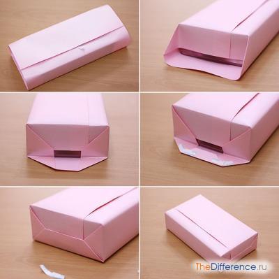 Kак упаковать подарок в бумагу: секреты профессионалов Крестик