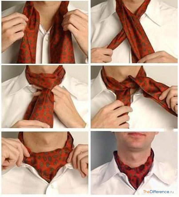 как завязывать платок на шею