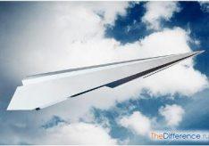 Самолет из листа бумаги