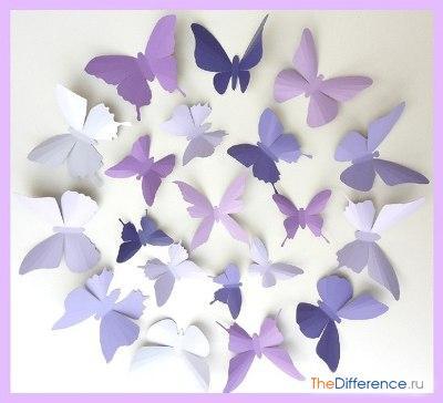 Как сделать поделку бабочку из бумаги 26