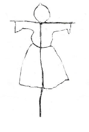как нарисовать Масленицу поэтапно