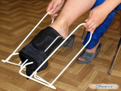 Конструкция для одевания компрессионных чулок