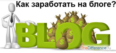 как зарабатывать на блоге