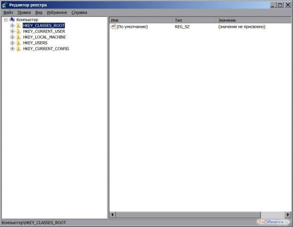 открыть реестр в windows 7