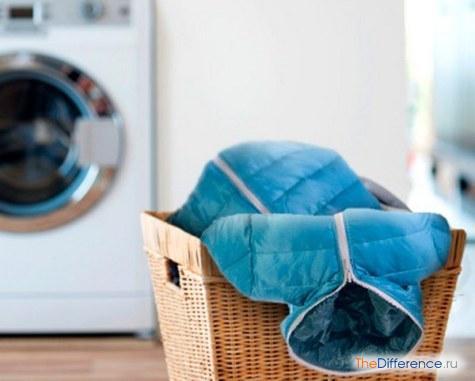 как постирать пуховик в стиральной машине