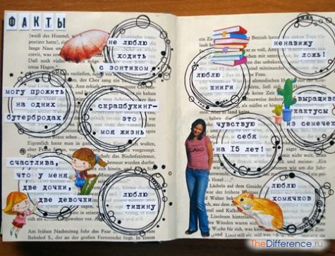 оформить личный дневник внутри
