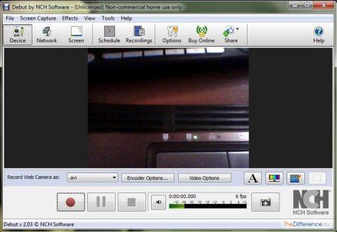 записать видео с веб-камеры