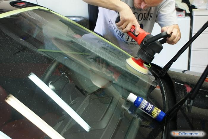 Полировка стёкол автомобиля своими руками