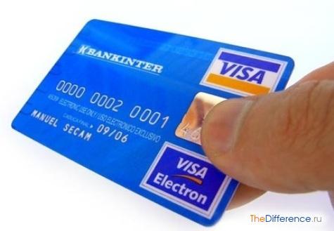 отличие Visa от Visa Electron