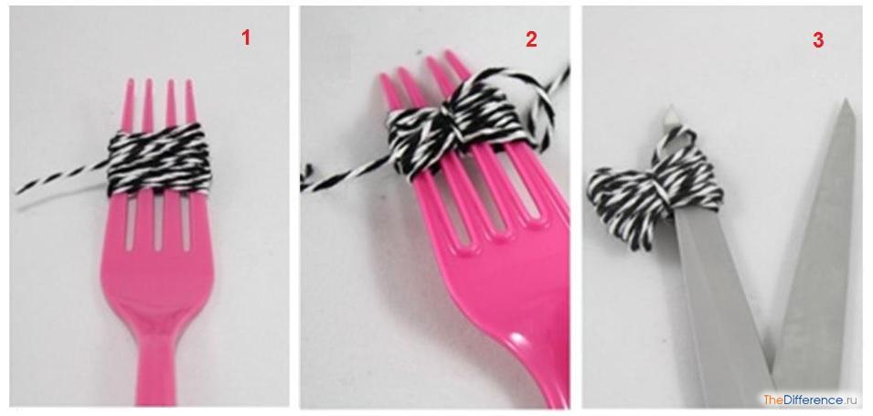 Как сделать помпон из ниток с помощью вилки - Азбука идей
