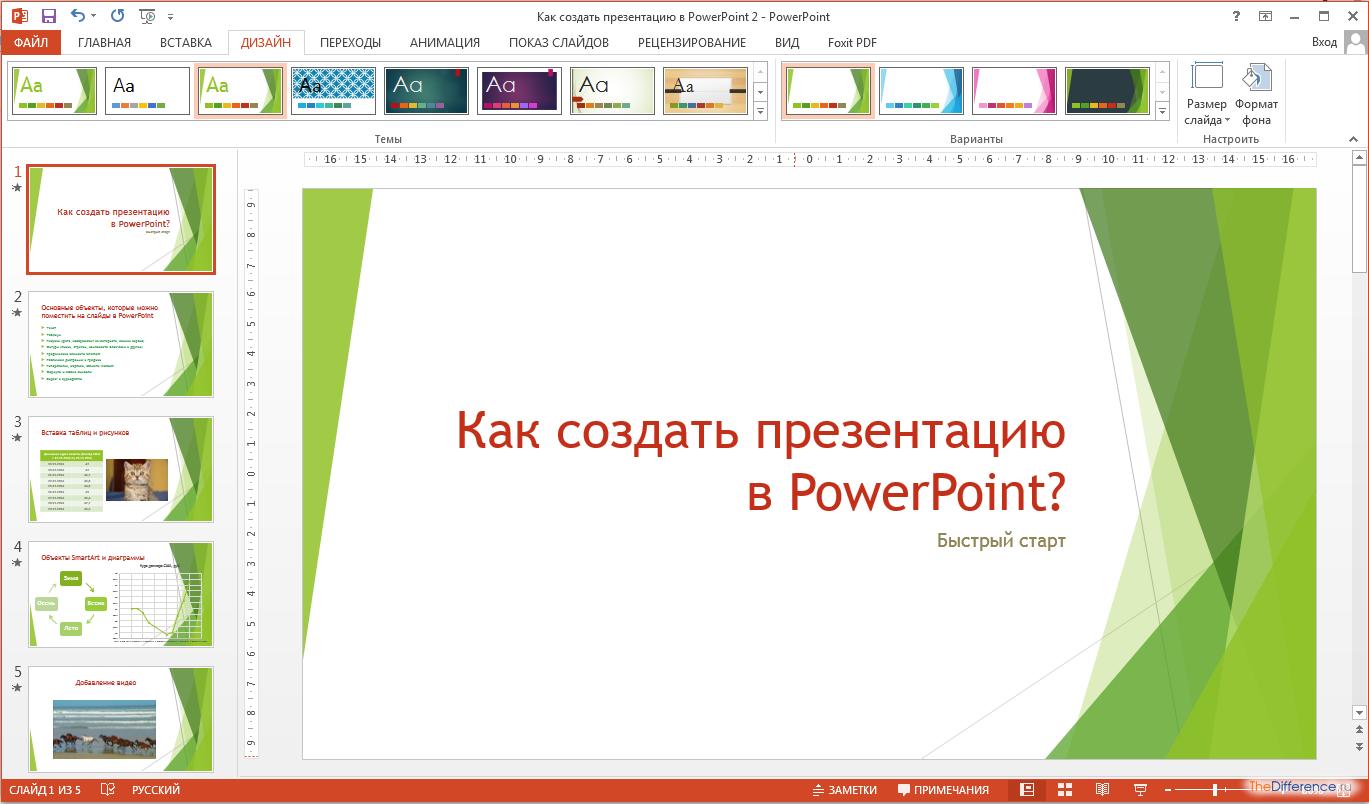 Создание презентации повер поинт