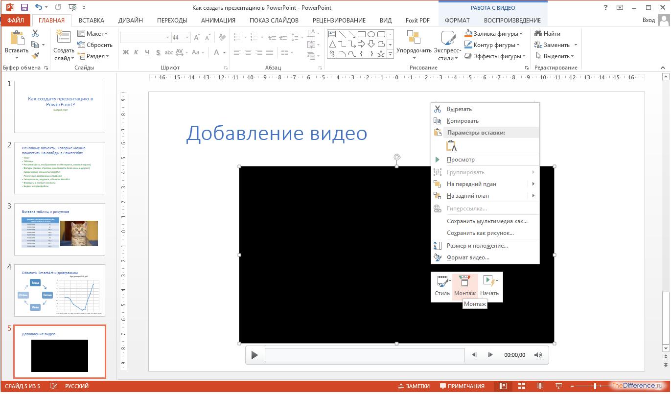 Как сделать слайд без powerpoint