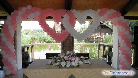 как украсить свадебный зал своими руками