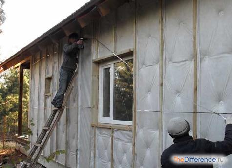 утеплить дом из бруса изнутри