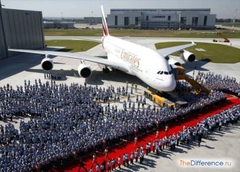 самый большой в мире пассажирский самолет фото