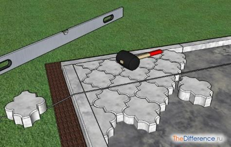 положить тротуарную плитку