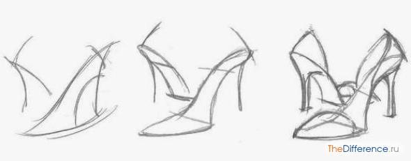 Мужские туфли рисуем 87