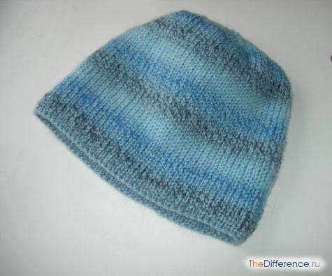 как связать шапку спицами