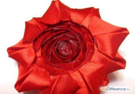 buket-27 Как сделать розу из атласной ленты?