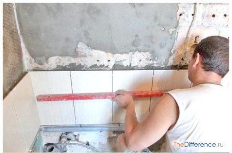 как положить плитку на деревянную стену