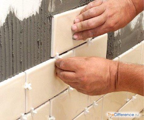 Плитка на бетонную стену