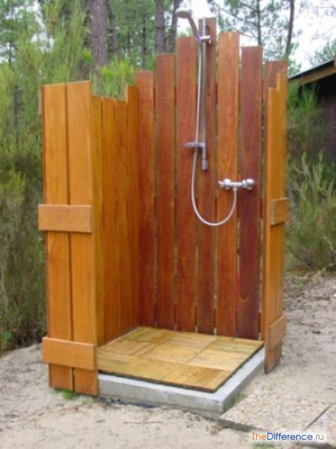 Как построить летний душ на даче своими руками поэтапно