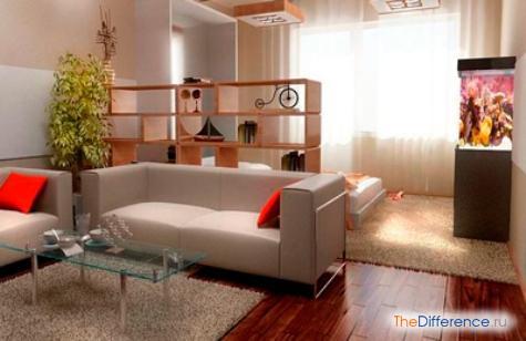 как расставить мебель в однокомнатной квартире с ребенком
