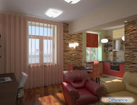 расставить мебель в однокомнатной квартире