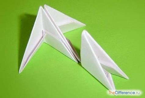 сделать объемного лебедя из бумаги